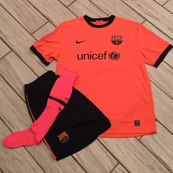 reputable site 5ed03 81178 FC Barcelona 2009-2010 Away Kit Size XL
